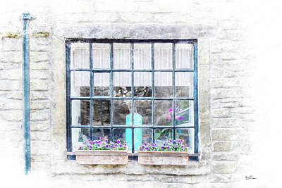 Mixed Media - Cottage Window by Starsphinx