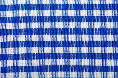 Royalty-Free and Rights-Managed Images - Cotton Fabric Texture Blue Checkered by Julien