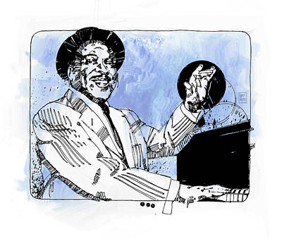 Jazz Royalty Free Images - Count Basie at Piano Royalty-Free Image by Garth Glazier