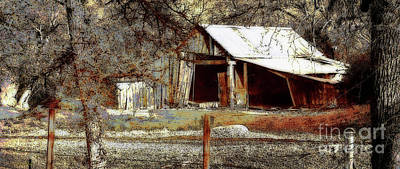 Ballerina Art - Country Barn by Debby Pueschel