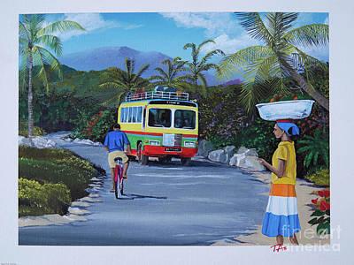 Painting - Country Bus by Gary 'TAS' Thomas
