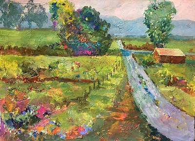 Painting - Country Road Take Me Home by Jessel Miller