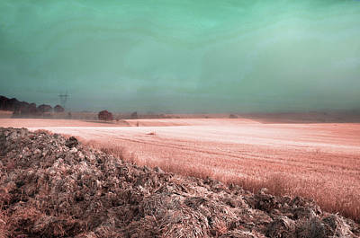 Surrealism Royalty-Free and Rights-Managed Images - Countryside Foggy Fields - Surreal Art by Ahmet Asar by Celestial Images