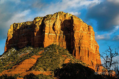 Vintage Signs - Courthouse Rock At Sunrise by Jon Burch Photography