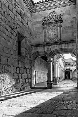 Kids Cartoons - Courtyard Entry Salamanca Spain by Joan Carroll