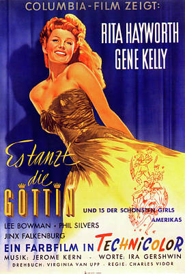 Royalty-Free and Rights-Managed Images - Cover Girl, with Rita Hayworth and Gene Kelly, 1944 by Stars on Art
