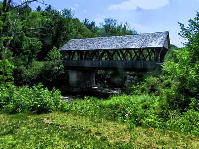 From The Kitchen - Covered Bridge Amongst The Greenery by Grace Joy Carpenter