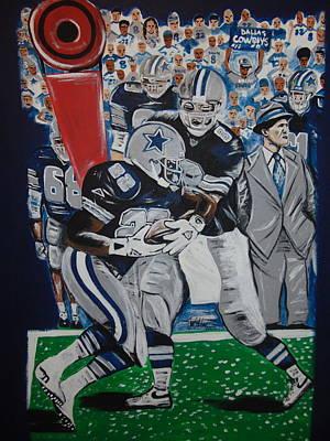 Sports Paintings - Cowboy Legends by Antonio Moore