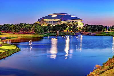 Royalty-Free and Rights-Managed Images - Cowboys Stadium at Dusk - Arlington Texas by Gregory Ballos