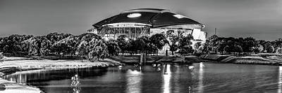 Sports Royalty-Free and Rights-Managed Images - Cowboys Stadium Panorama - Arlington Texas Infrared Monochrome by Gregory Ballos
