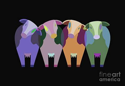 Animals Digital Art - Cows 21-05-630 by Marek Lutek