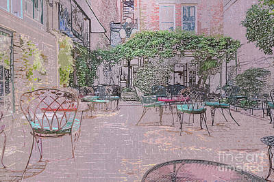 Thomas Kinkade - Cozy Courtyard by Bentley Davis