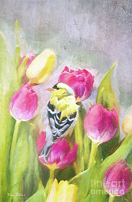 Studio Grafika Typography - Cozy In The Tulips by Tina LeCour