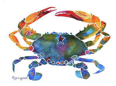Painting - Crab - E by Jo Lynch