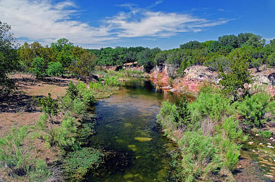 Abstract Graphics - Crabapple Creek Texas by Greg Reed