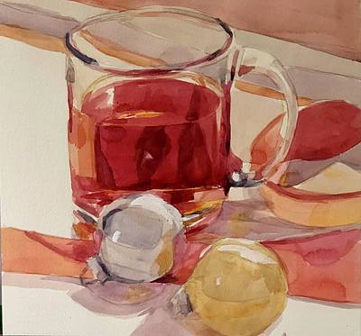 Painting - Cranberry Cocktail  by Jo Mackenzie