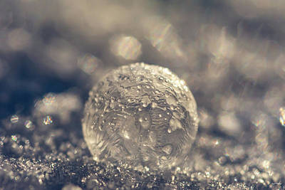 Photograph - Crater Frozen Bubble by Crystal Wightman