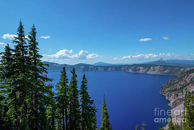 Royalty-Free and Rights-Managed Images - Crater Lake Overlook  by Michael Ver Sprill