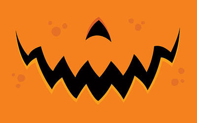 Royalty-Free and Rights-Managed Images - Crazy Pumpkin Jack-O-Lantern Mouth by John Schwegel