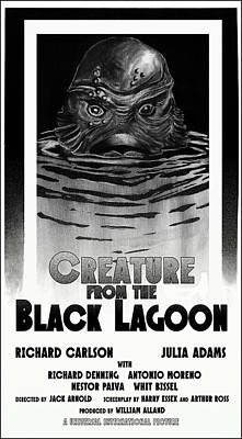 Landscape Photos Chad Dutson - Creature from the Black Lagoon 1954 by Sean Parnell