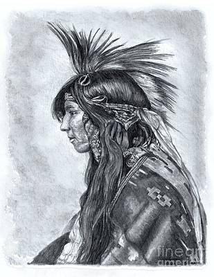 Drawing - Cree Indian, 1903 by Stephany Elsworth