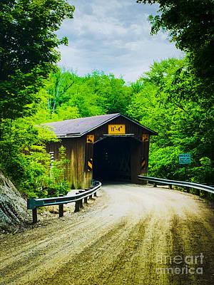 State Love Nancy Ingersoll - Creek Road Covered  Bridge by Michael Krek