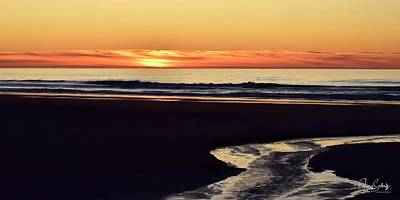 Jerry Sodorff Royalty-Free and Rights-Managed Images - Creek To The Ocean by Jerry Sodorff