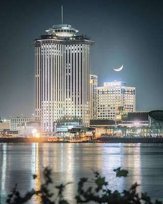 Photograph - Crescent Moon Over The Crescent City by Chase This Light Photography