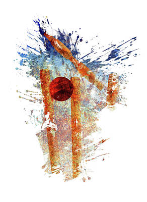 Sports Royalty-Free and Rights-Managed Images - Cricket Stumps by All Sport Art