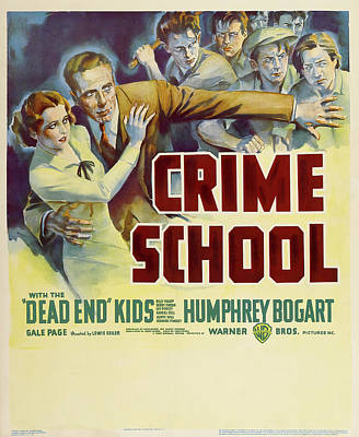 Royalty-Free and Rights-Managed Images - Crime School, with Humphrey Bogart, 1938 by Stars on Art