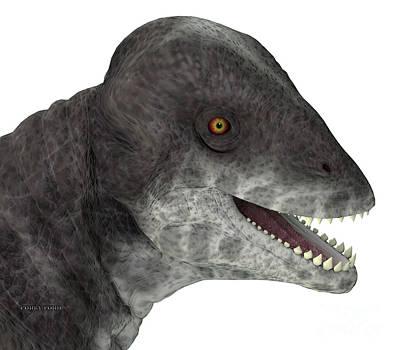 Bath Time - Criocephalosaurus Dinosaur Head by Corey Ford