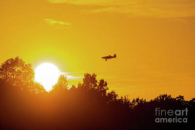 Kids Alphabet - Crop Duster at Sunset by David Arment