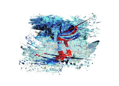 Sports Royalty-Free and Rights-Managed Images - Cross Country Skiing by All Sport Art