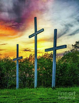 Studio Grafika Vintage Posters - Crosses at Sunset by Nick Zelinsky