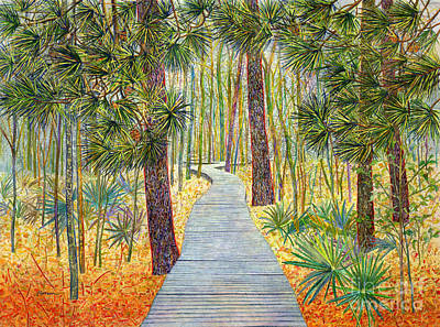 Claude Monet - Crossing Chinquapin Trail, Huntsville State Park by Hailey E Herrera
