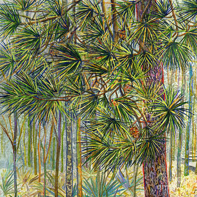 Palm Trees - Crossing Chinquapin Trail-Pine Needles by Hailey E Herrera