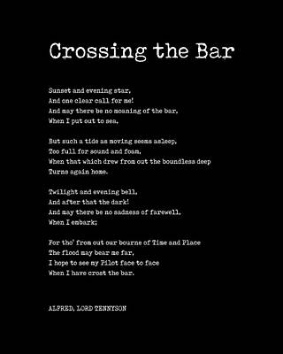 Digital Art - Crossing The Bar - Alfred Lord Tennyson Poem - Literature - Typewriter Print 2 by Studio Grafiikka