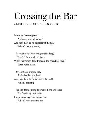 Digital Art - Crossing The Bar - Alfred Lord Tennyson Poem - Literature - Typography 1 by Studio Grafiikka