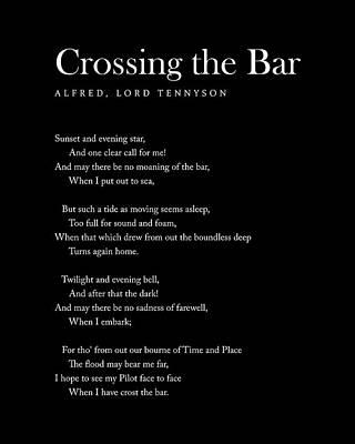 Digital Art - Crossing The Bar - Alfred Lord Tennyson Poem - Literature - Typography 2 by Studio Grafiikka