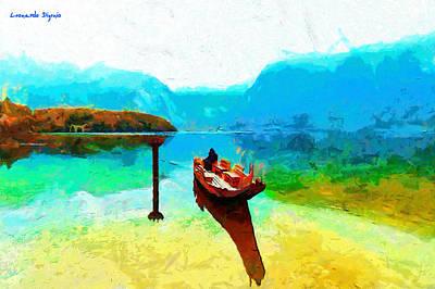 Sports Paintings - Crossing The Lake - PA by Leonardo Digenio