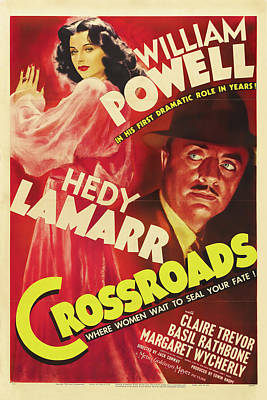 Royalty-Free and Rights-Managed Images - Crossroads, with William Powell and Hedy Lamarr, 1942 by Stars on Art
