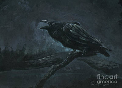 Painting - Crowing in the Dark by Tony W Morgan