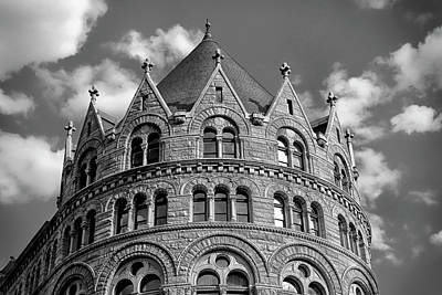 Surrealism Royalty-Free and Rights-Managed Images - Crowned Building State Street Area of Boston Massachusetts by Stephen Orsillo
