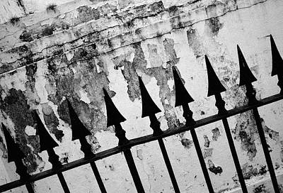 Surrealism Royalty-Free and Rights-Managed Images - Crumbling Wall and Railings by Mark Robert Davey
