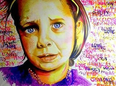 Painting - Crying girl by David Rhys