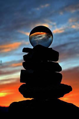 Photograph - Crystal Ball Sunset by Debra Herman