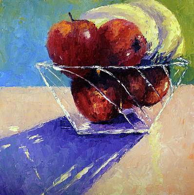 Painting - Crystal Fruit Bowl by Terry Chacon