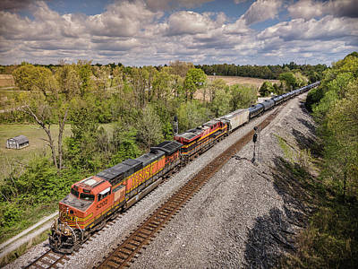 David Bowie Royalty Free Images - CSX K443 southbound at Kelly Kentucky on the Henderson Subdivision Royalty-Free Image by Jim Pearson