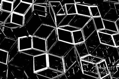 Surrealism Royalty-Free and Rights-Managed Images - Cubism 1-- Multiverse Structure - Abstract Photography by ParaKrytous P
