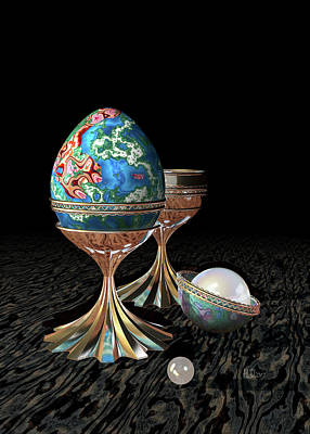 Truck Art Rights Managed Images - Cup, Egg and Pearls Royalty-Free Image by Hakon Soreide